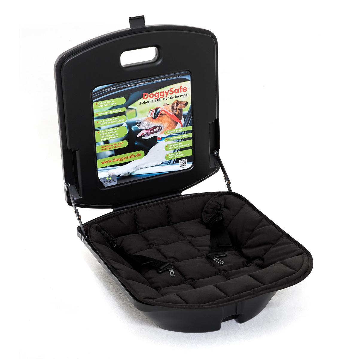 doggysafe auto hundesitz gurtsystem und einlegedecke schwarz. Black Bedroom Furniture Sets. Home Design Ideas