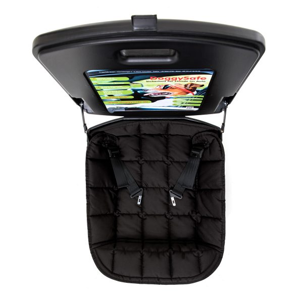 DoggySafe - Hunde Autositz für kleine Hunde - mit Einlegedecke schwarz