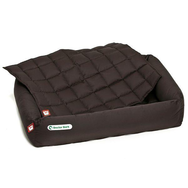 Hundebett-Set - Decke braun - Doctor Bark - Gr. l