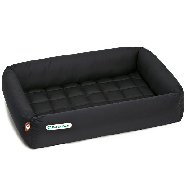 Hundebett-Set - Decke schwarz - Doctor Bark - Gr. l