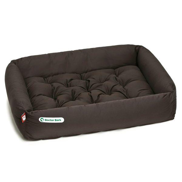 Hundebett-Set - Kissen braun - Doctor Bark - Gr. l